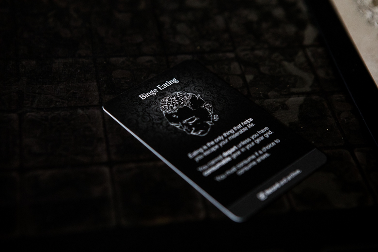 Kingdom Death Monster binge eating disorder card