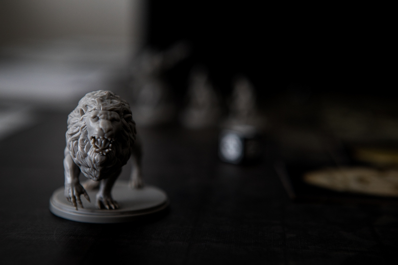 Kingdom Death Monster White Lion hit reaction