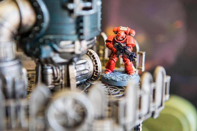 Warhammer 40K Kill Team Blood Angel looking pensive