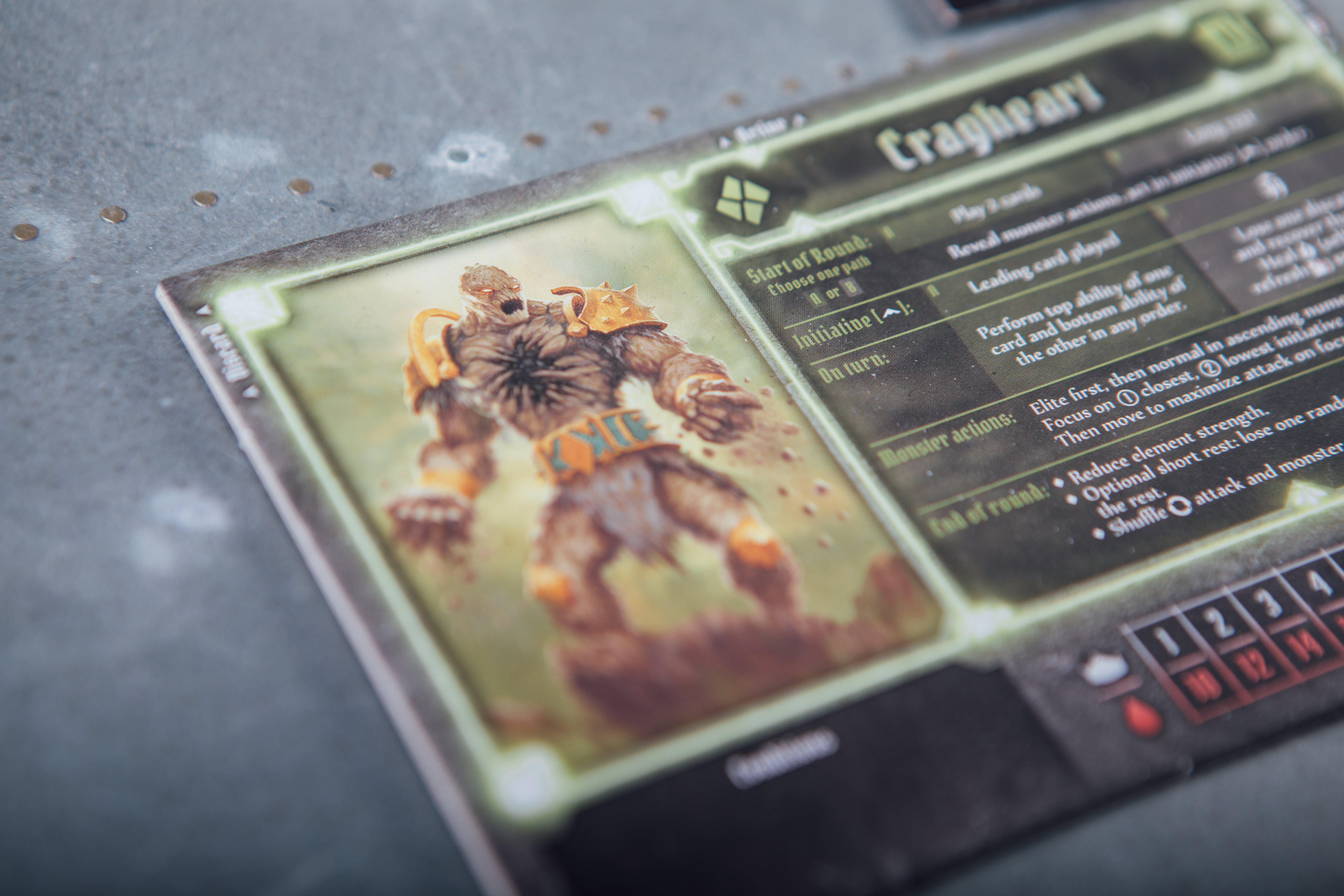 Gloomhaven Crypt of the damned Cragheart card