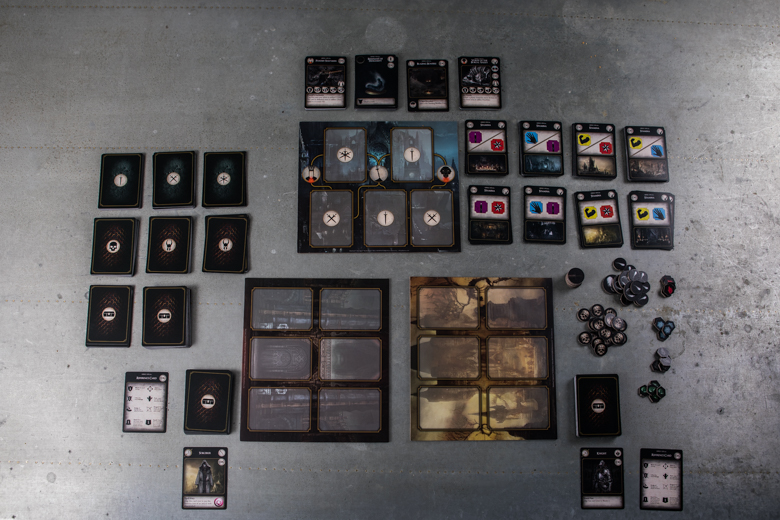 Dark Souls The Card Game components