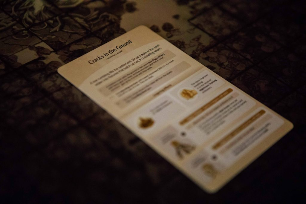 Kingdom Death Monster cracks in the ground card