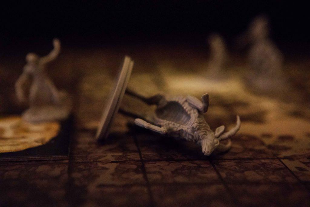 Kingdom Death Monster screaming antelope knocked down
