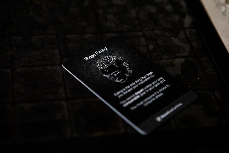 Kingdom Death Monster binge eating disorder card