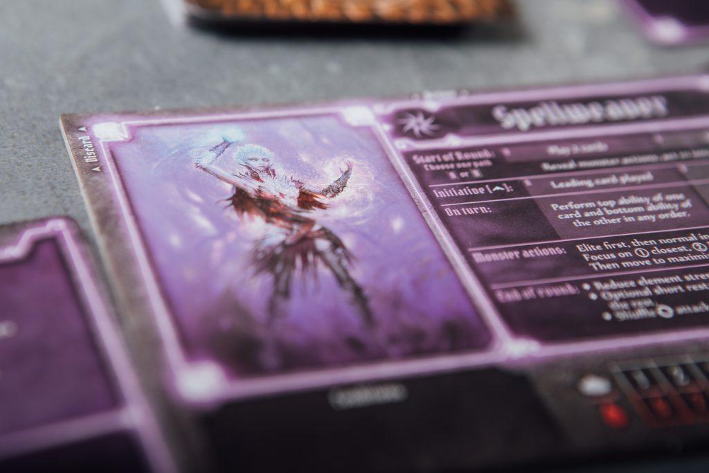 Gloomhaven Black Barrow Spellweaver character card