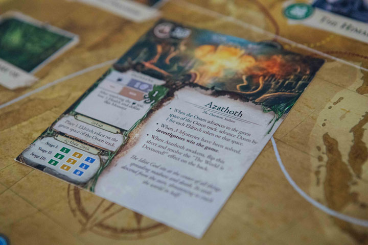 Eldritch Horror Azathoth enemy card