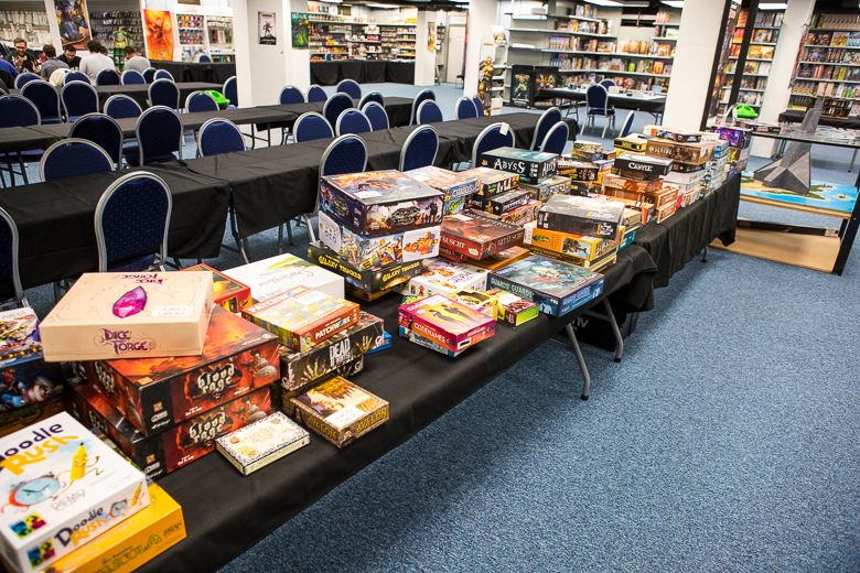Dark Sphere table of games