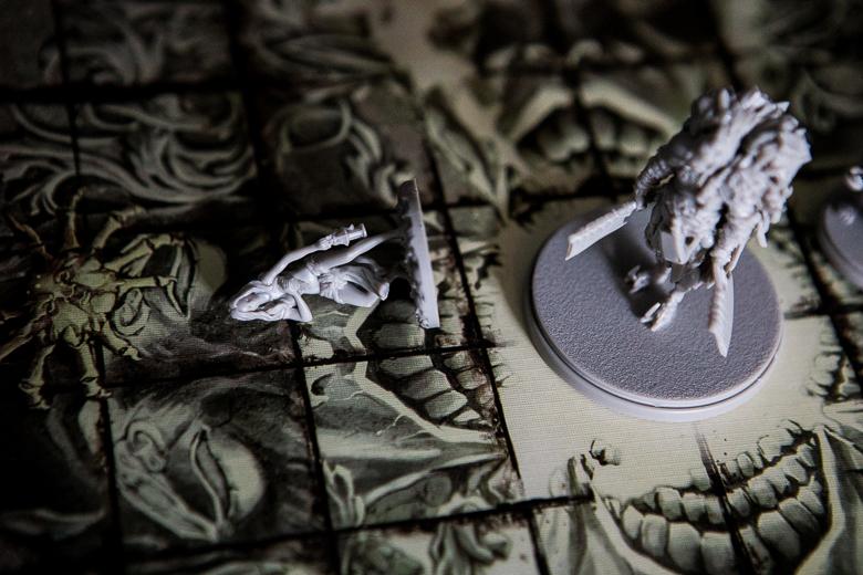 Kingdom Death Monster Butcher Elayne knocked down
