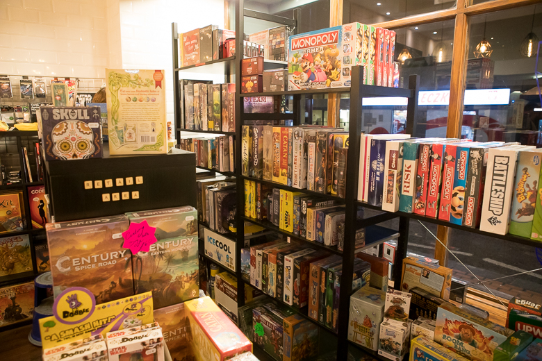 The Ludoquist games shelves