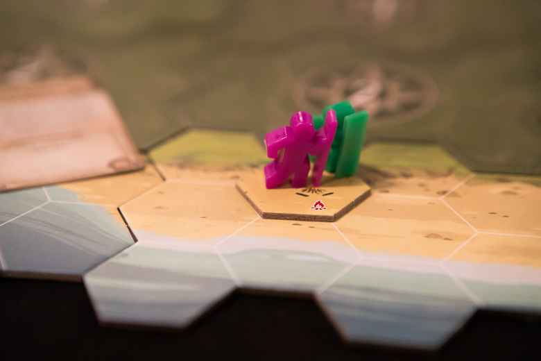 Discover Lands Unknown meeples starting tile