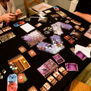 Gloomhaven review game in progress
