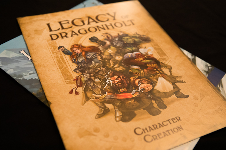 Legacy of Dragonholt character creation book